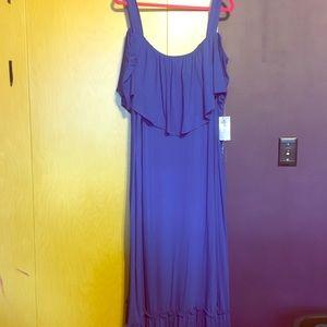 Cold shoulder/ strapless maxi dress